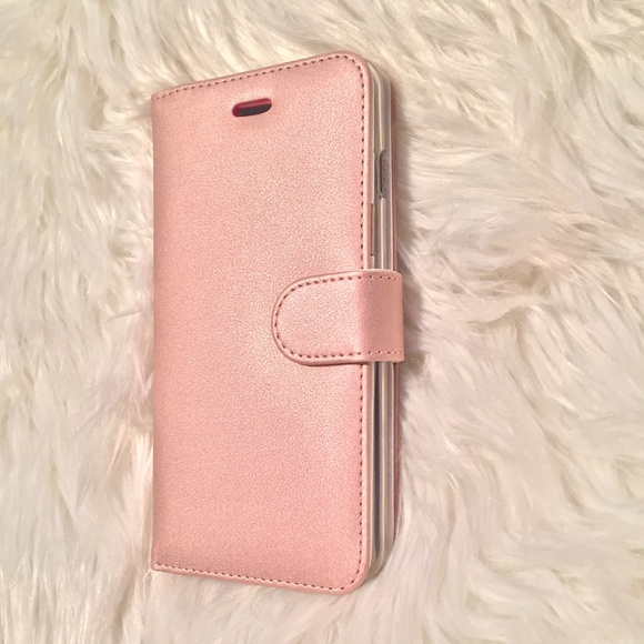 hot sale online dcc81 2372c Leather iPhone Case 6/6S PLUS Rose Gold NWT NWT
